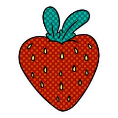 cartoon doodle of a fresh strawberry