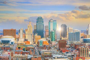 Fotomurales - View of Kansas City skyline in Missouri