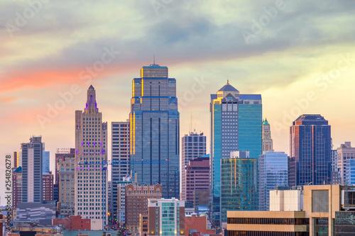 Wall mural View of Kansas City skyline in Missouri