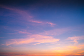 Sunset sky background.
