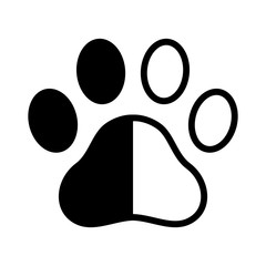 Dog paw vector footprint logo icon cat claw cartoon graphic symbol illustration french bulldog bear