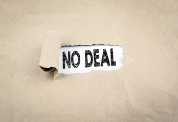 No Deal concept. Relations between the UK and the european union