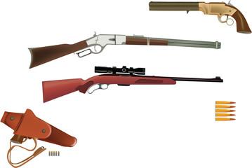 armi da sparo fucile e pistola