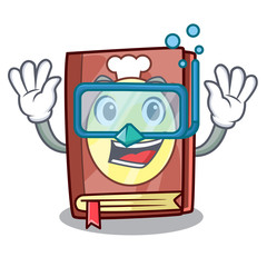Diving recipe book isolated in the cartoon
