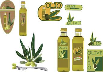 adesivi di olio e olive prodotto italiano