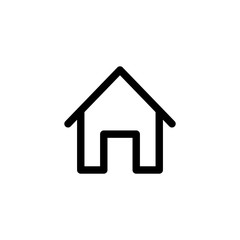 Home icon outline simple flat style illustration isolated