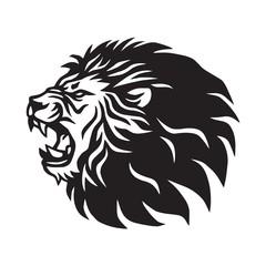 Fototapeta Roaring Lion Logo Mascot Vector Icon Design