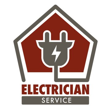 Electrician service isolated icon plug and current wiring