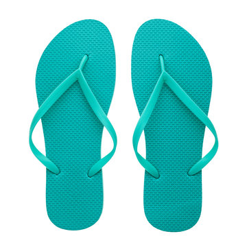 Rubber flip-flops isolated