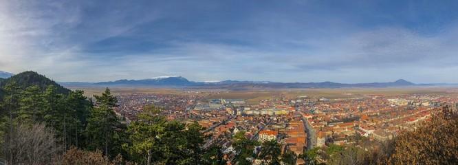 Stadtbild Râsnov in Rumänien