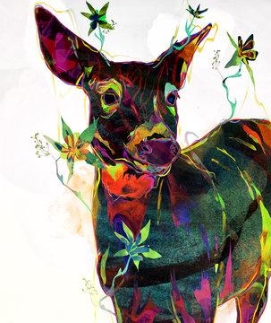 Beautiful Deer Illustration