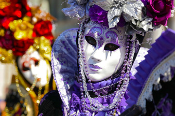 carnival venice with colored mask