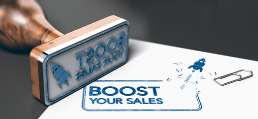 Business or Marketing Concept, Boost Your Sales