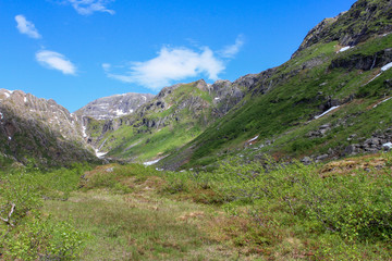 Hiking in Godvassdalen in Northen Norway