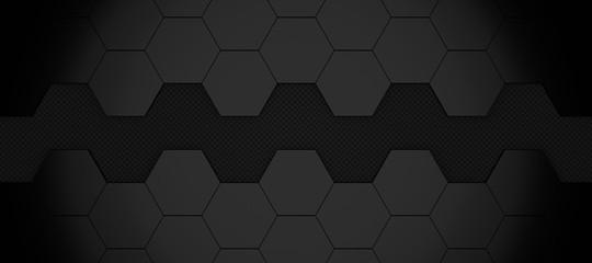 3d illustration of modern honeycomb background aluminium and carbon fiber pattern