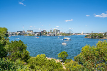 Poster de jardin Océanie Sydney water view from Millers Point