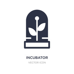 incubator icon on white background. Simple element illustration from Future technology concept.