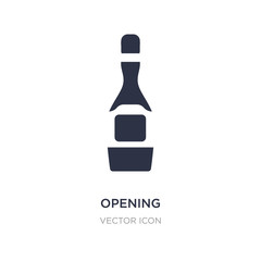 opening champagne bottle icon on white background. Simple element illustration from Party concept.