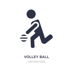 volley ball icon on white background. Simple element illustration from People concept.