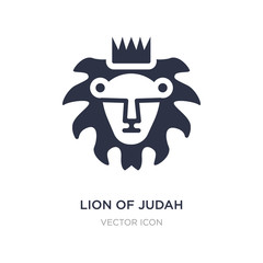 lion of judah icon on white background. Simple element illustration from Religion concept.