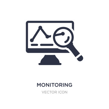 monitoring icon on white background. Simple element illustration from Search engine optimization concept.