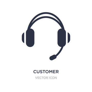 customer service headset icon on white background. Simple element illustration from Technology concept.