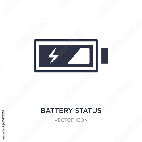 battery status icon on white background  Simple element