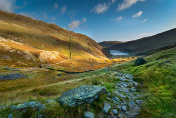 Early morning at Haweswater reservoir in the lake district