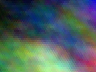 New multicolor background. Abstract illustration. Hexagonally pixeled