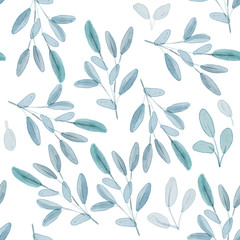 Watercolor Floral background. Watercolor pattern.