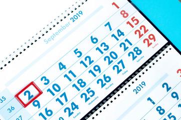 holidays in the calendar 2 september