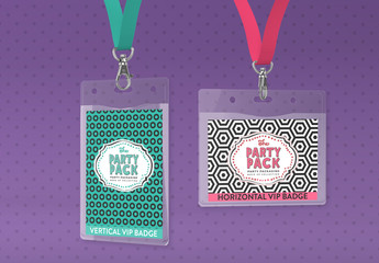 ID Badges Mockup