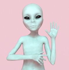 Gruß eines Außerirdischen