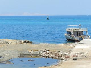 plaża i morze w Hurghadzie, Egipt