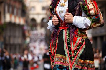 Dettaglio Abito tradizionale Sardo- Sardegna
