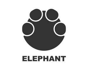 Elephant footprint logo, paw print