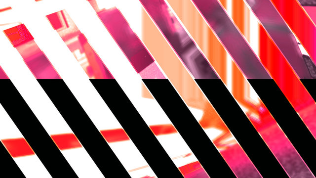 wide diagonal stripes abstract background, 3d graphics, red and pink color
