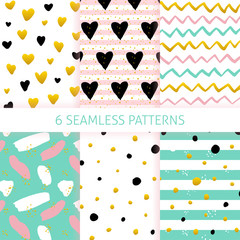 Printed roller blinds Pattern Mothers Day Trendy Seamless Patterns