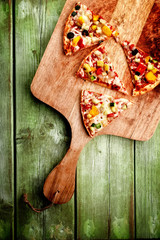 pizza von oben