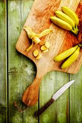 bananen scheiben von oben