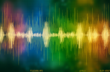 voice recognition waveform and spectrum Wall mural