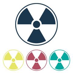 Radiation symbol. Biohazard sign. Set