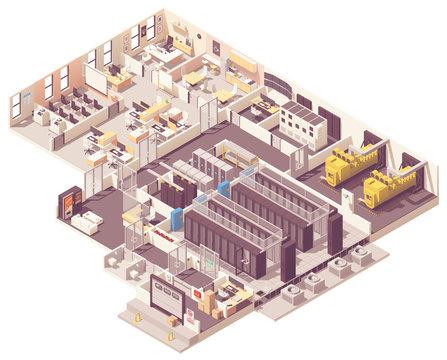 Isometric data center interior