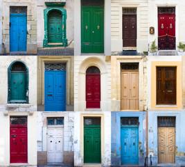 Set of traditional front door from Malta