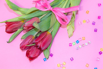 Banner hello april. Hi spring. Hello April. Welcome card We are waiting for the new spring month.