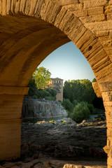 View under the Pont de Gard