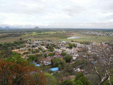 Small town landscape, India, Tamil Nadu