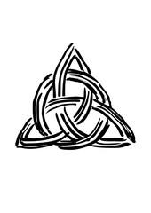 Celtic knot. Tribal symbol in celtic style. Vector illustration.