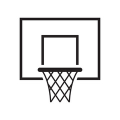 Black basketball basket icon. Vector illustration