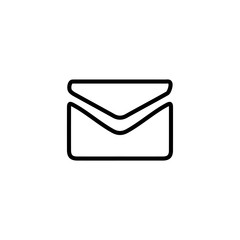 Letter icon. Business card sign